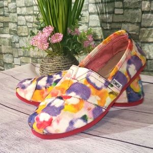 Toms watercolor floral slides 7.5 W